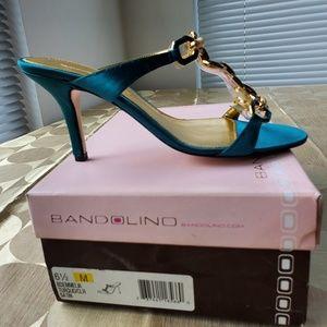 Bandolino Shoes - Bandolino BDEMMELIA TURQUO/CLR SATIN Sandals.